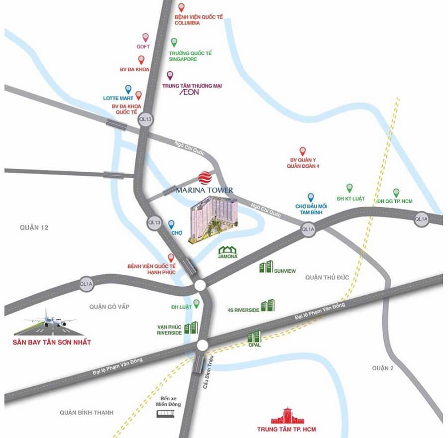 Hạ tầng hoàn chỉnh, dễ dàng kết nối với trung tâm Sài Gòn