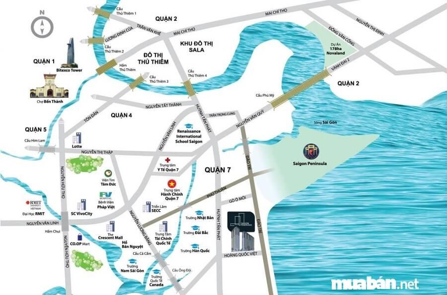 Dự án River Panorama tọa lạc ngay mặt tiền đường Hoàng Quốc Việt, Phường Phú Thuận, Quận 7, TP. Hồ Chí Minh.