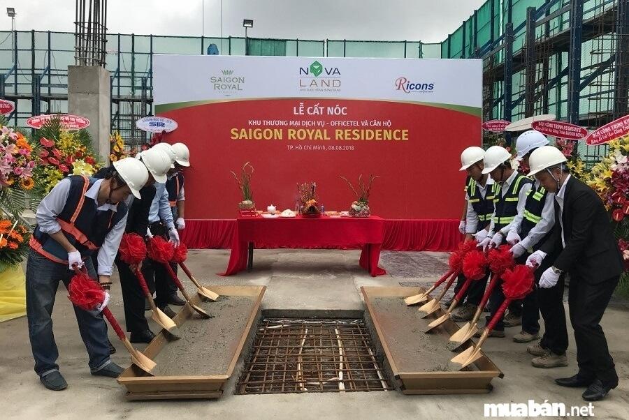Dự án Saigon Royal có chủ đầu tư là Novaland Group.