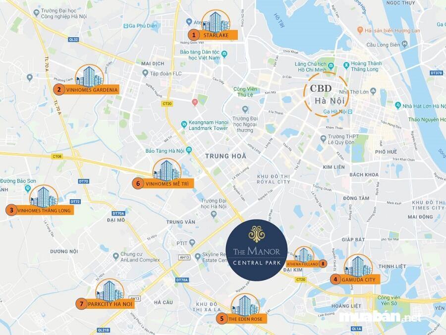 Từ The Manor cư dân vô cùng thuận lợi trong kết nối giao thông đến khu vực Bắc Thăng Long – Nội Bài.