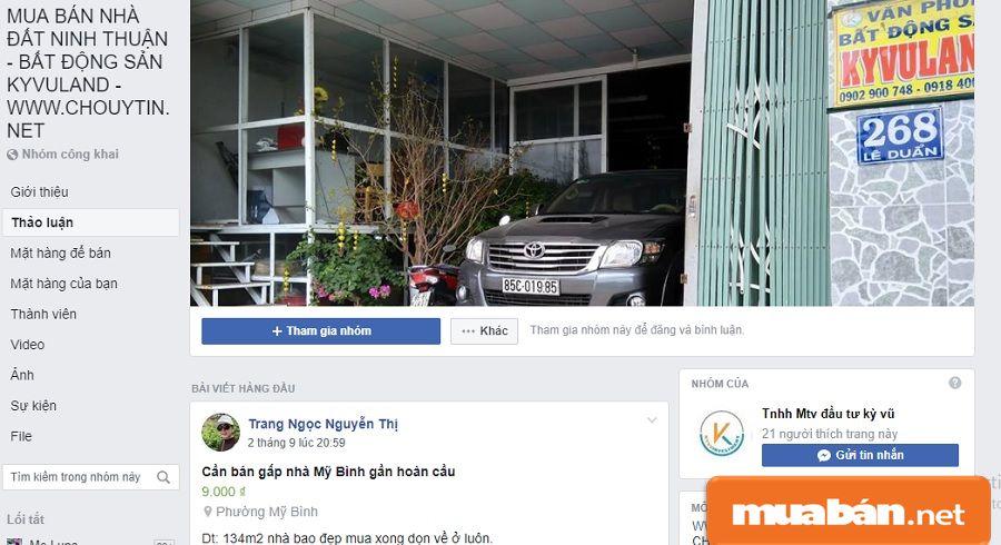 Hãy tham gia các group bán nhà trên mạng xã hội để tìm kiếm khách hàng.
