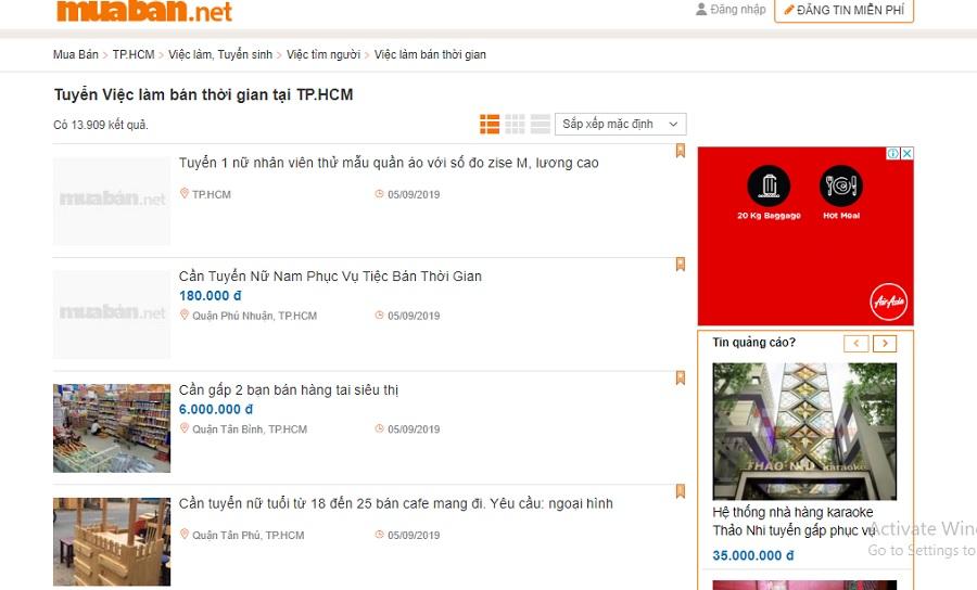 Nên tìm việc trên kênh tuyển dụng uy tín, có lượng truy cập cao như muaban.net.