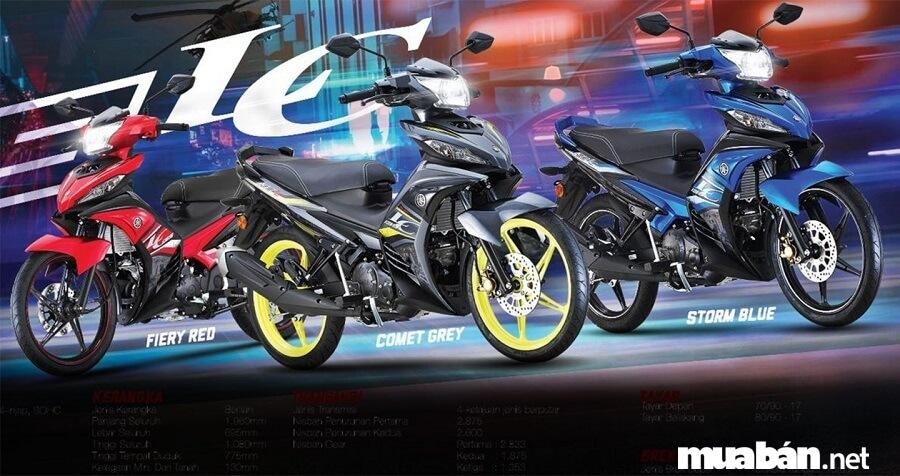 Yamaha Exciter 135 2019 có 3 màu tùy chọn màu sắc, gồm: Đỏ, xanh và xám.