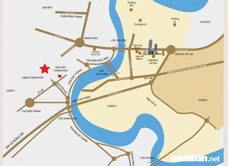 Dự án tọa lạc tại phường An Phú, Quận 2 , cạnh Metro An Phú.