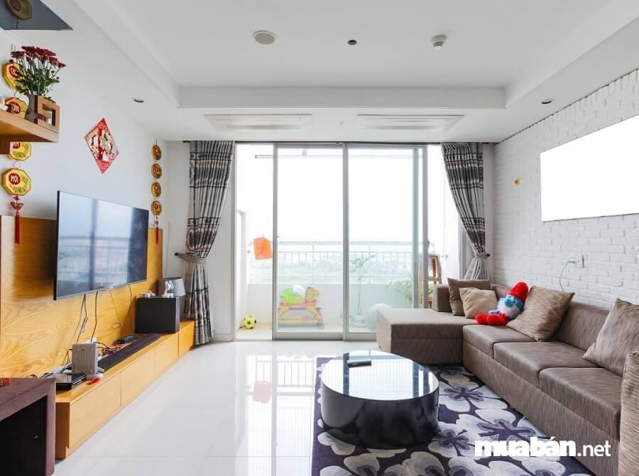 Căn hộ Cantavil An Phú có view tuyệt đẹp hướng vào trung tâm Sài Gòn và sông Sài Gòn thơ mộng.