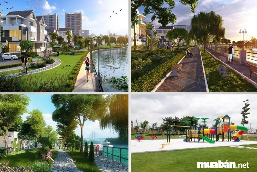 Trong đó 60% diện tích dự án dành cho tiện ích nội khu hòa hợp với mảng xanh thiên nhiên.
