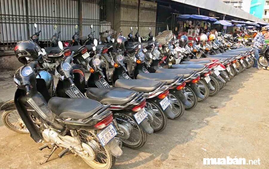 trị còn lại của xe máy bằng giá trị chiếc xe máy đó khi còn mới nhân với (x) tỷ lệ phần trăm chất lượng còn lại của chiếc xe.