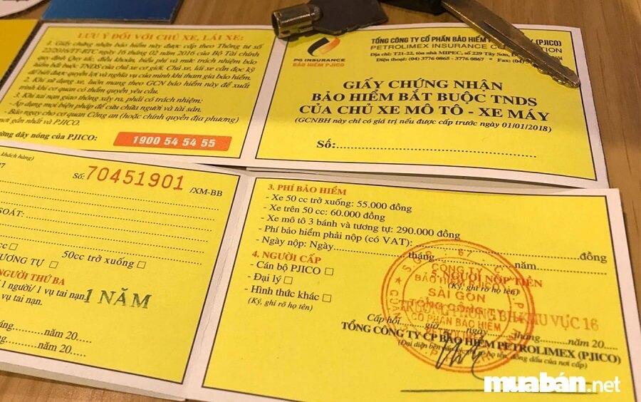 Nộp phí trước bạ xong, bạn sẽ đem về những loại giấy tờ sau, để còn làm tiếp thủ tục đăng ký xe