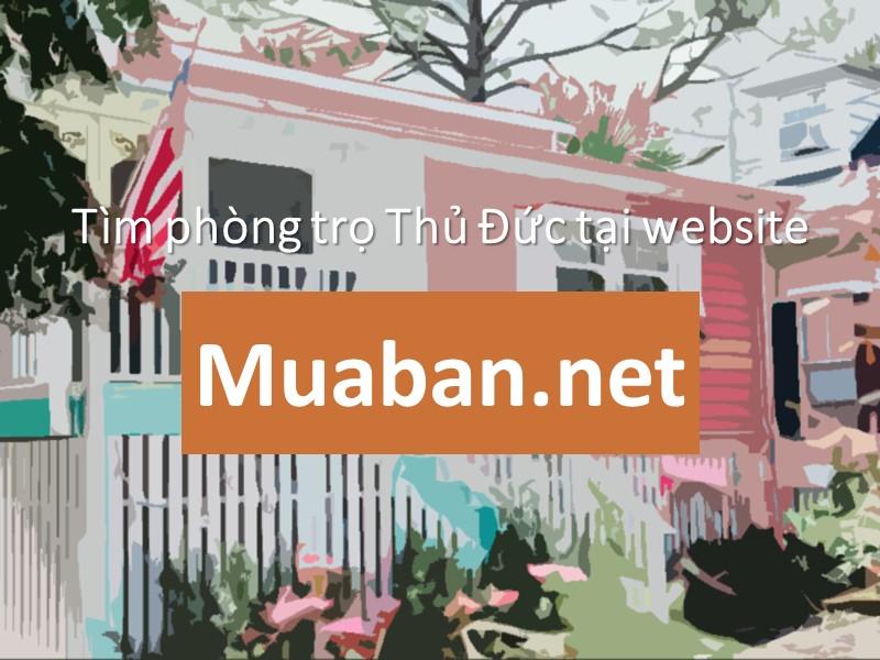 Tìm phòng trọ thông qua website muaban.net