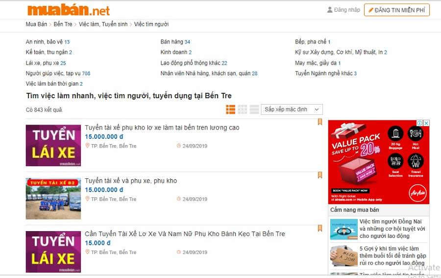 Bạn cũng có thể tham khảo các thông tin việc làm thêm gia công tại nhà trên muaban.net.