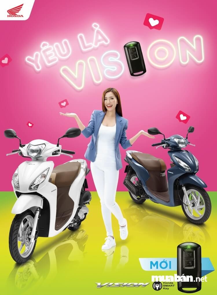 Khóa thông minh trên Vision 2019 smartkey có thiết kế, chống trộm an toàn.