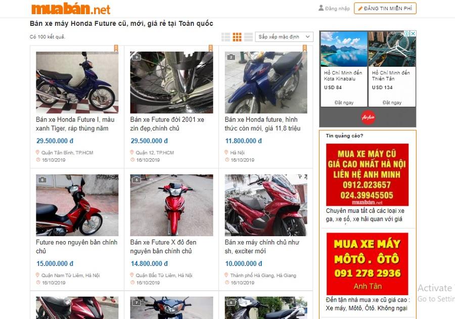 Muaban.net chưa bao giờ gây thất vọng cho người tìm kiếm thông tin xe máy.