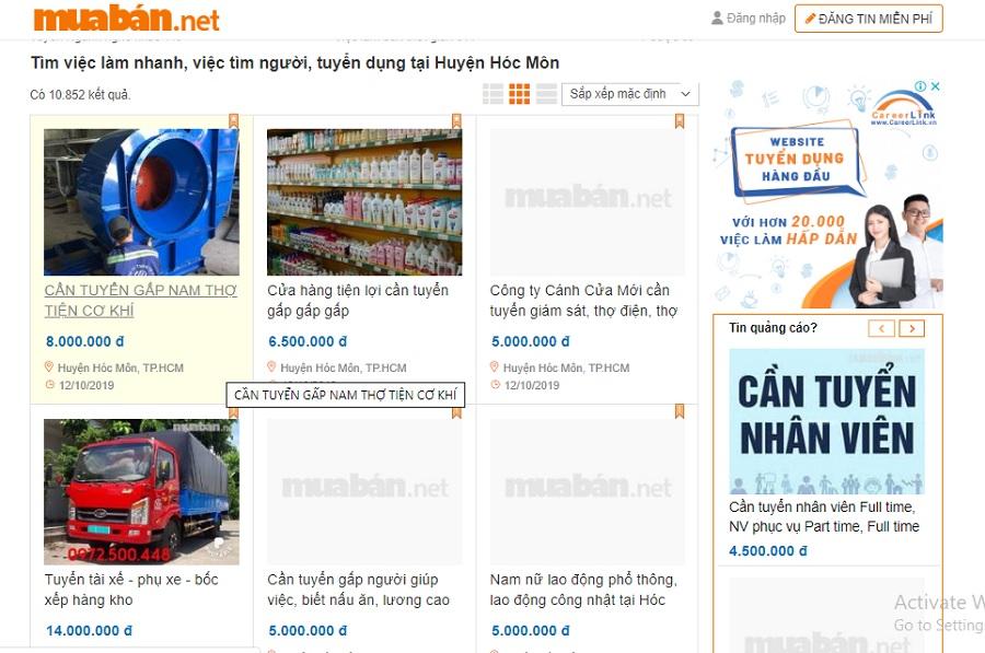 Website muaban.net là một trong những kênh giúp bạn tuyển dụng khá hiệu quả.