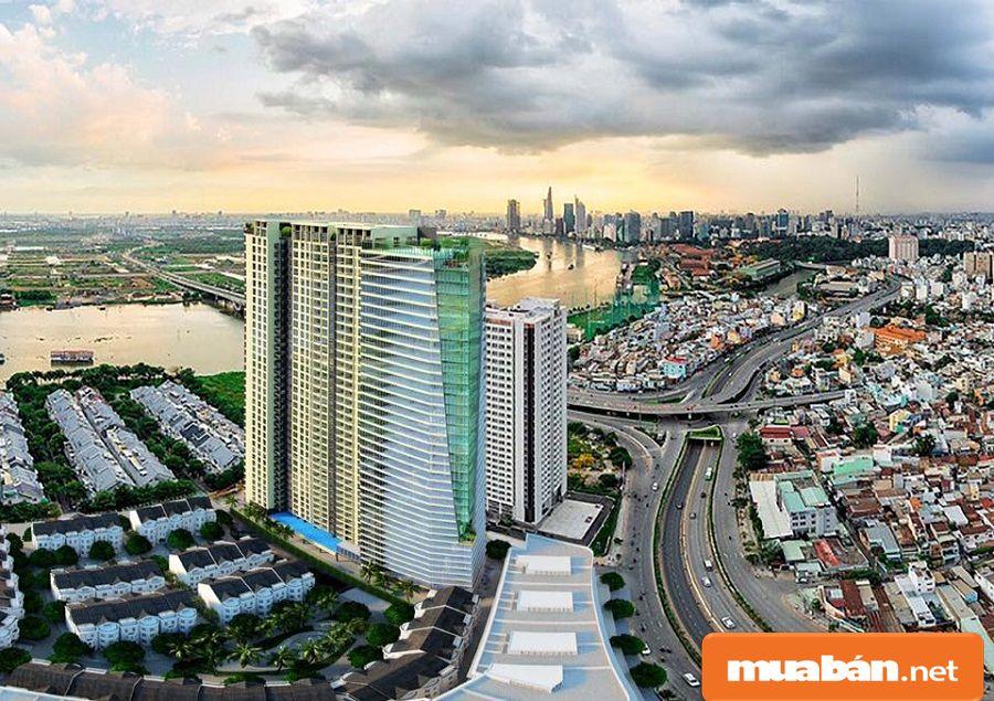 Khu dự án này tọa lạc ngay trung tâm thành phố, nằm dọc ven sông Sài Gòn thơ mộng.