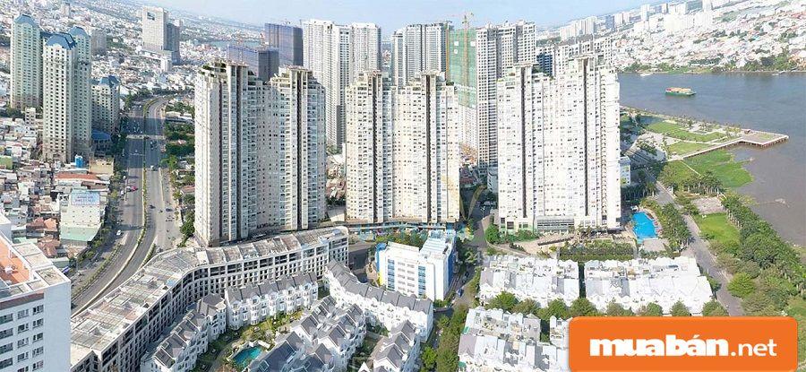 Dự án căn hộ này có khá nhiều dự án lớn bao bọc xung quanh như Garden Gate, Pearl Plaza...