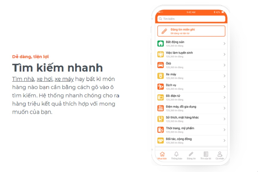 Ứng dụng giúp người dùng tìm kiếm thông tin nhanh chóng, tiện lợi hơn.