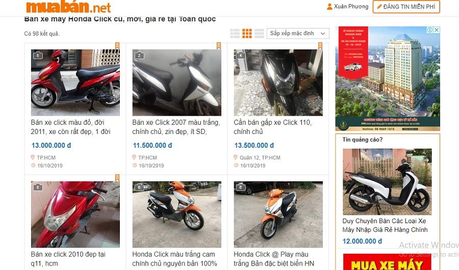 Bạn có thể tham khảo thêm thông tin trên muaban.net với các mẫu xe khác nhau.