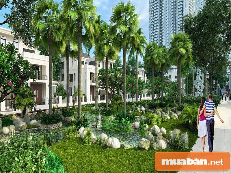 Dự án sở hữu không gian sống vô cùng xanh tươi