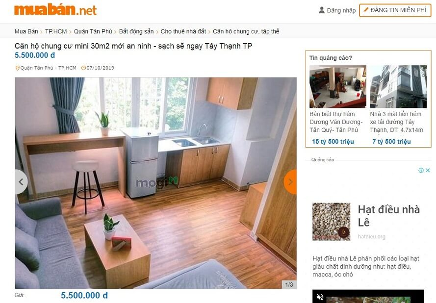 Căn hộ chung cư mini cho thuêđường Tây Thạnh, Quận Tân Phú