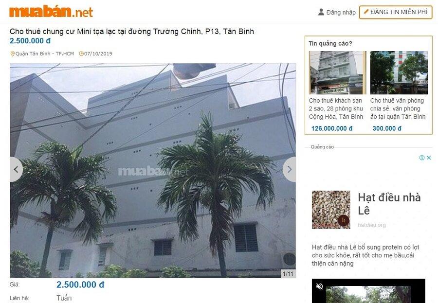 Cho thuê chung cư Mini tọa lạc tại đường Trường Chinh, P13, Tân Bình