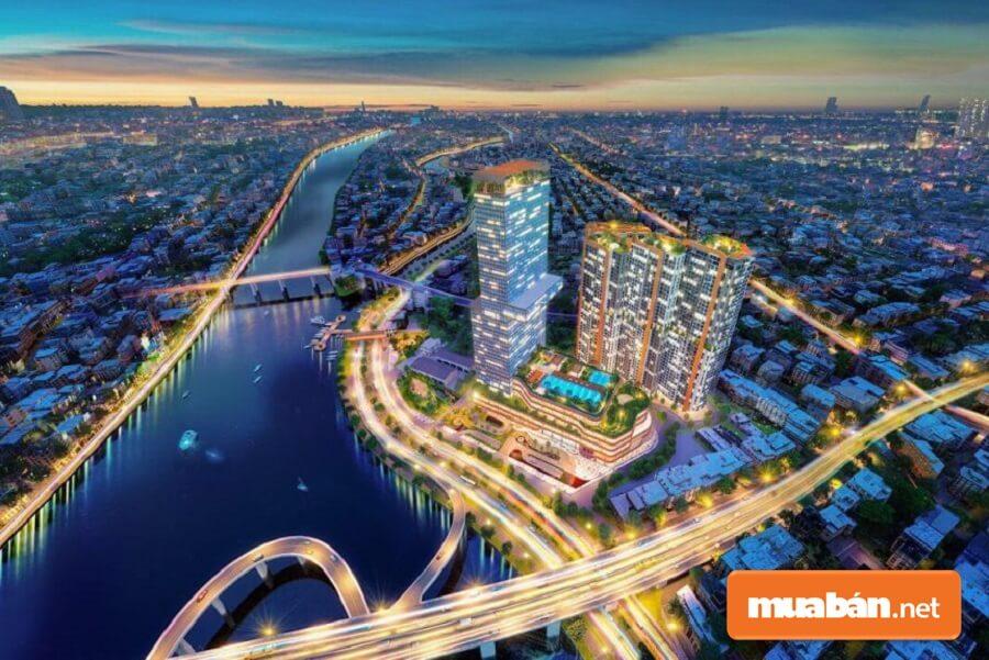 """Dragon Riverside City mang tầm vóc của """"một thành phố 5 sao"""" giữa lòng Sài Gòn hoa lệ."""