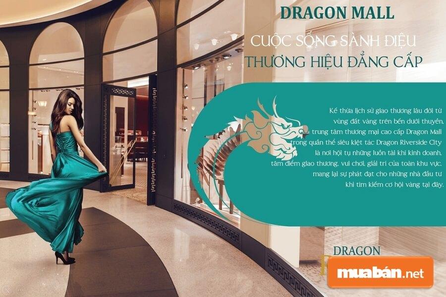 Trung tâm thương mại cao cấp Dragon Mall trong quần thể siêu kiệt tác Dragon Riverside City.