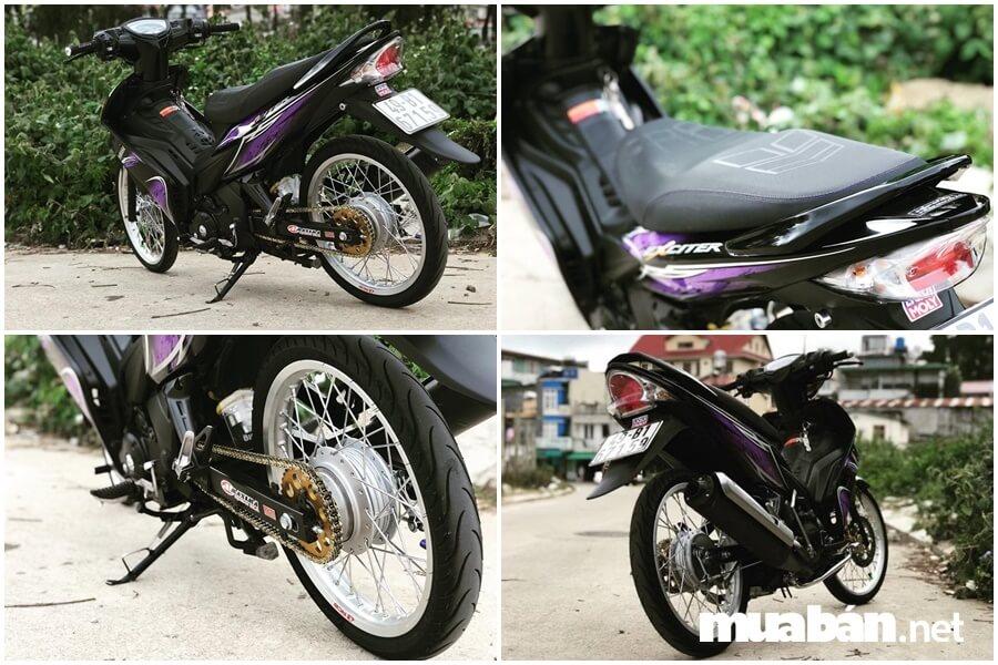 Exciter 2010 độ tím đen của biker Lâm Đồng