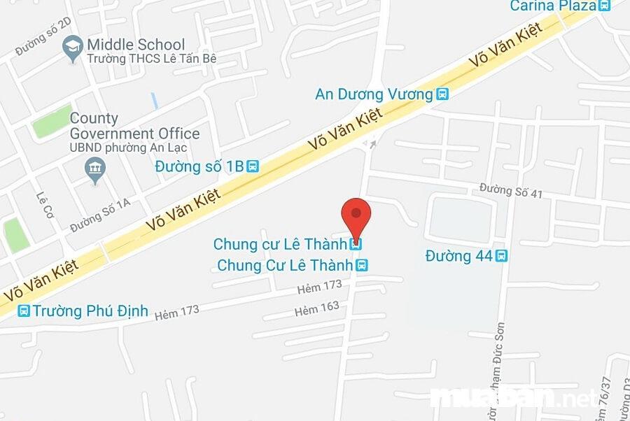Dự án tọa lạc tại Lê Tấn Bê, Khu phố 2, Phường An Lạc, Quận Bình Tân, TP.HCM.