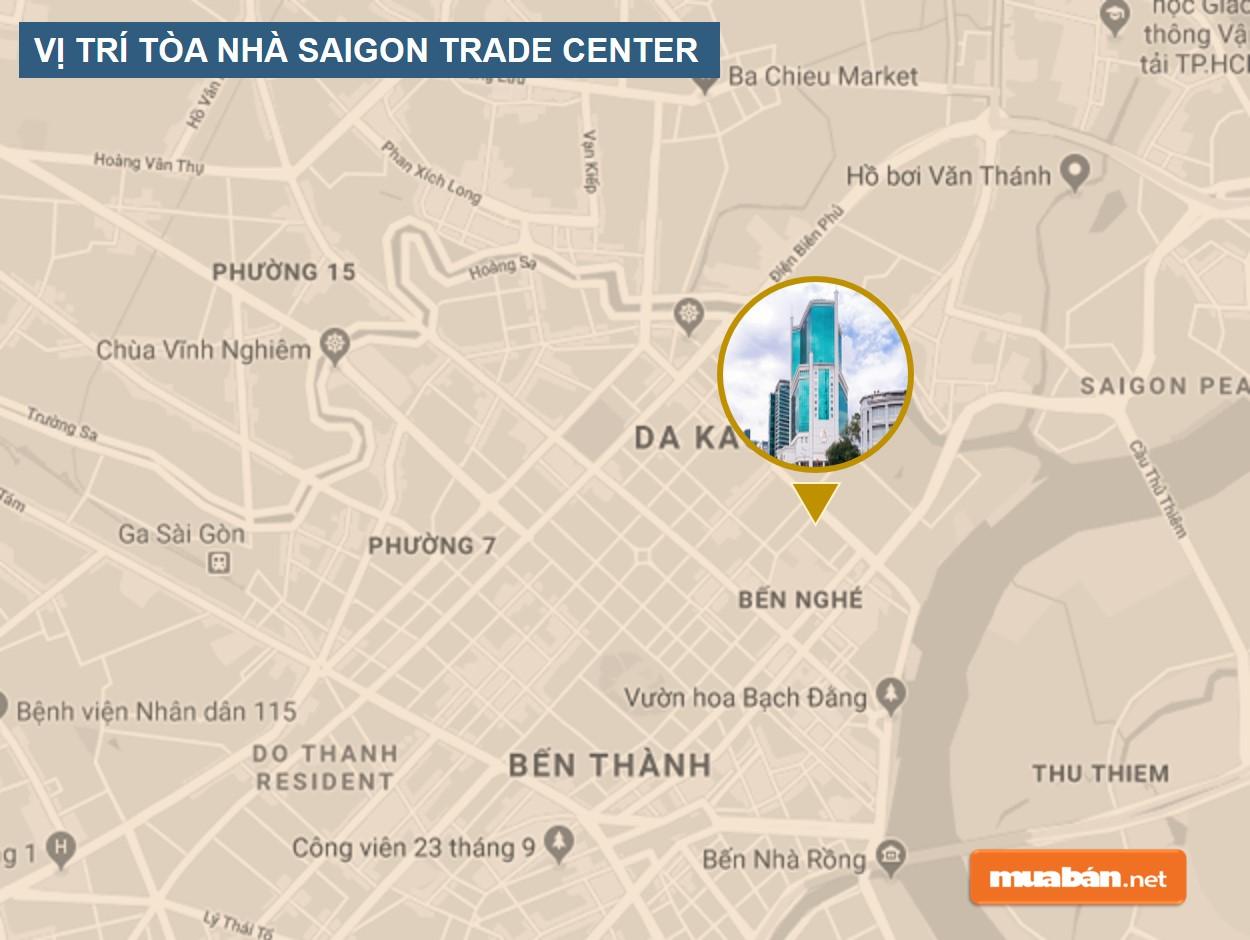 Vị trí tòa nhà Saigon Trade Center
