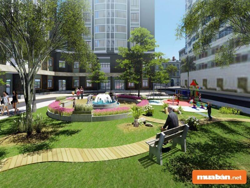 Dự án sở hữu không gian sống xanh tươi và đẹp mắt