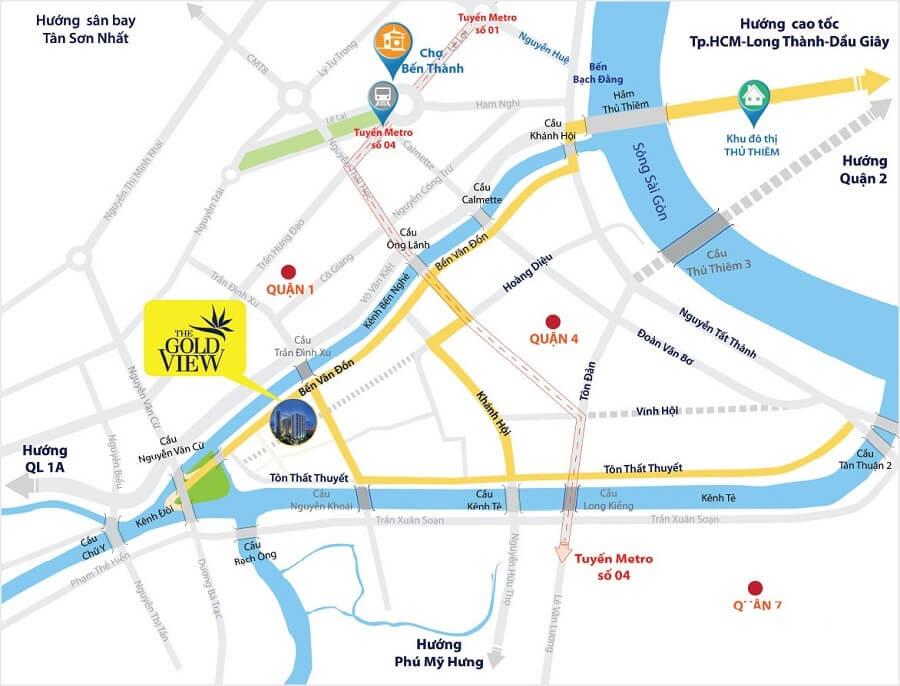 Vị trí dự án tọa lạ tại số 346 Bến Vân Đồn, Phường 1, Quận 4, TP.HCM.