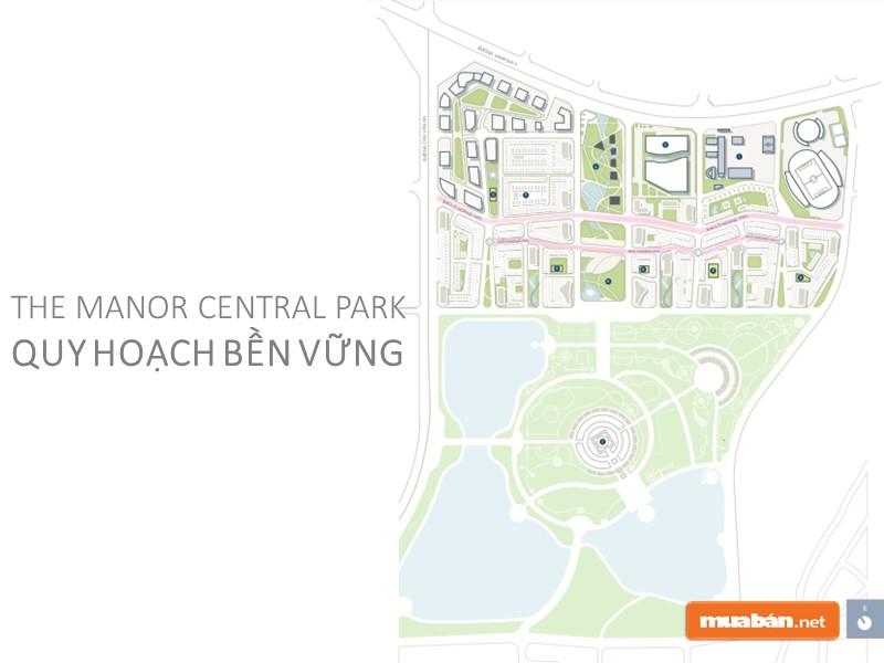 Quy hoạch tổng thể của dự án The Manor Central Park Hà Nội