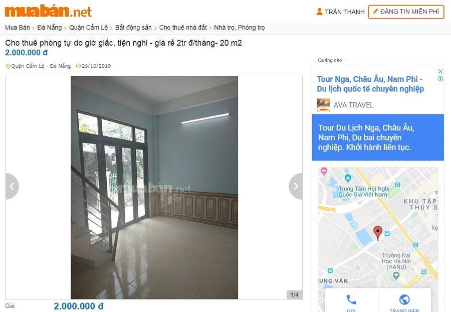 Cho thuê phòng tự do giờ giấc, tiện nghi - giá rẻ 2tr đ/tháng- 20 m2
