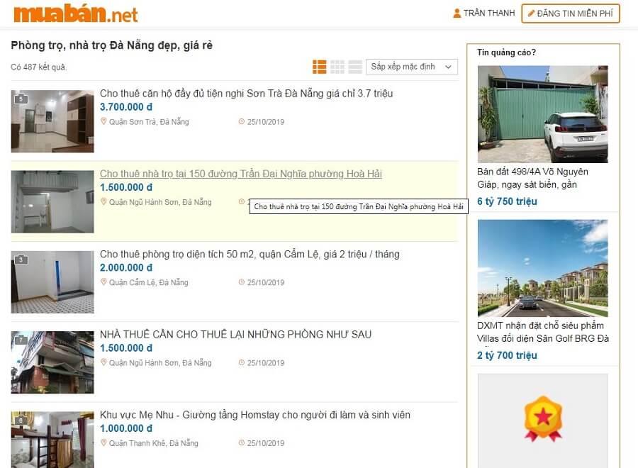 Đừng quên truy cập muaban.net nếu bạn muốn tìm phòng trọ, nhà trọ hoặc các tin bán bất động sản Đà Nẵng nhanh chóng, uy tín.