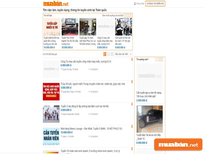 HÃy tìm việc nhanh chóng nhất với Muaban.net nhé