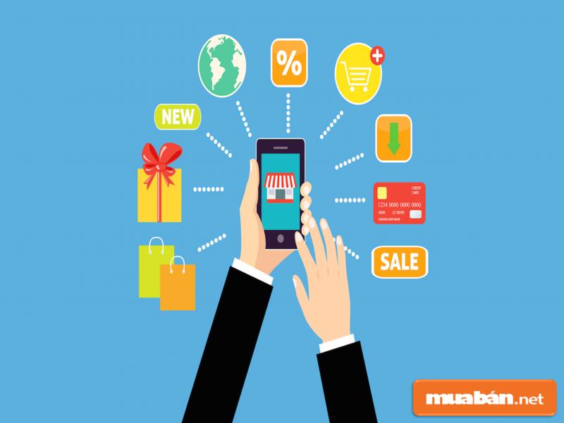 Bạn có thể mua mọi thứ thông qua ứng dụng