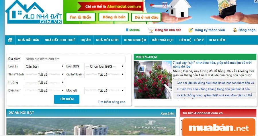 Các trang web mua bán nhà đất uy tín