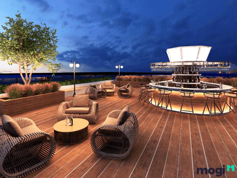 Bạn có thể vui chơi tại Sky Bar của Kn Paraside