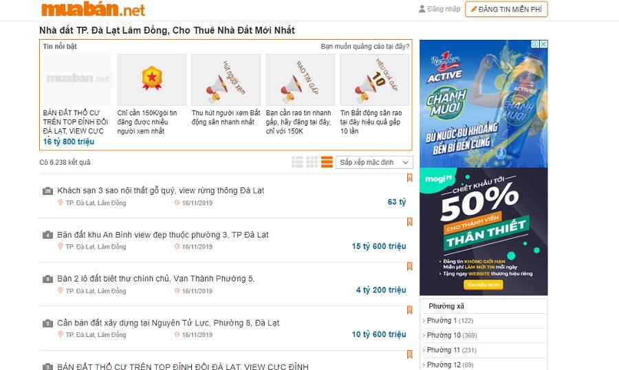 Bạn có thể tham khảo thông tin mua bán nhà đất trên website muaban.net.