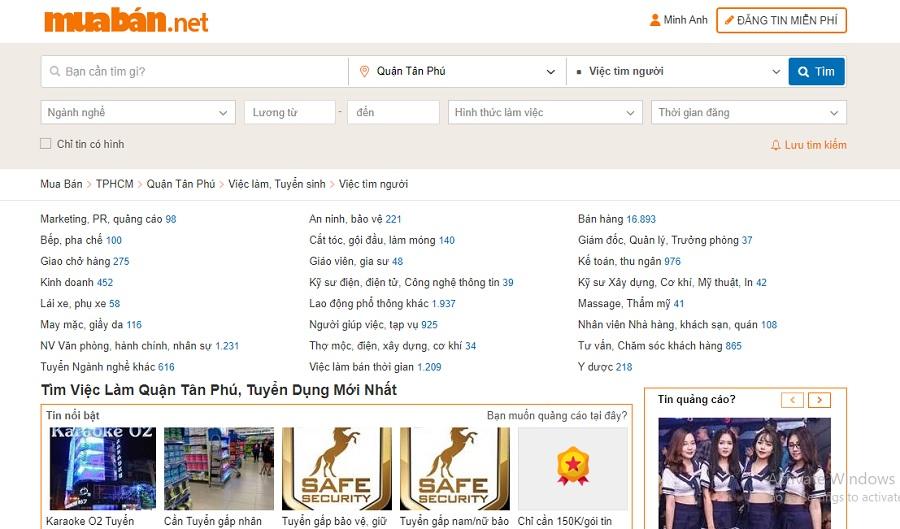 website muaban.net luôn có những thông tin tuyển dụng mới mỗi ngày.