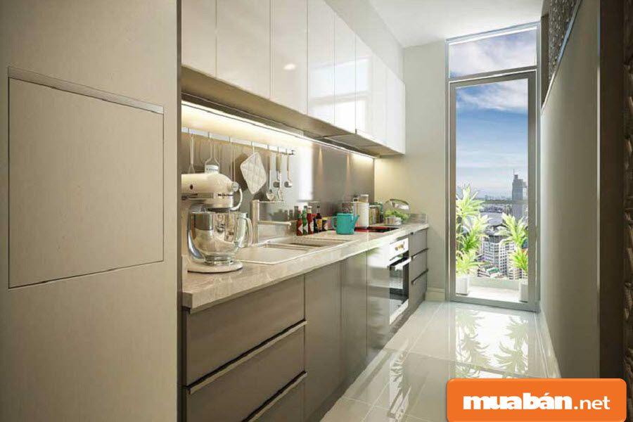 Gian bếp: sử dụng thương hiệu Bosch danh tiếng.