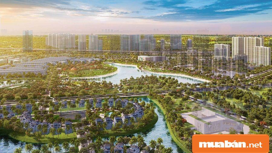 Mật độ xây dựng khoảng 22,53%, phần lớn diện tích còn lại dành cho cây xanh.