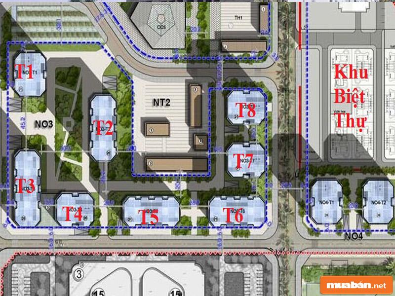 Khu đô thị ngoại giao đoàn bao gồm khu nhà công vụ, nhà ở cao tầng, biệt thự, nhà vườn liền kề và các khu tiện ích