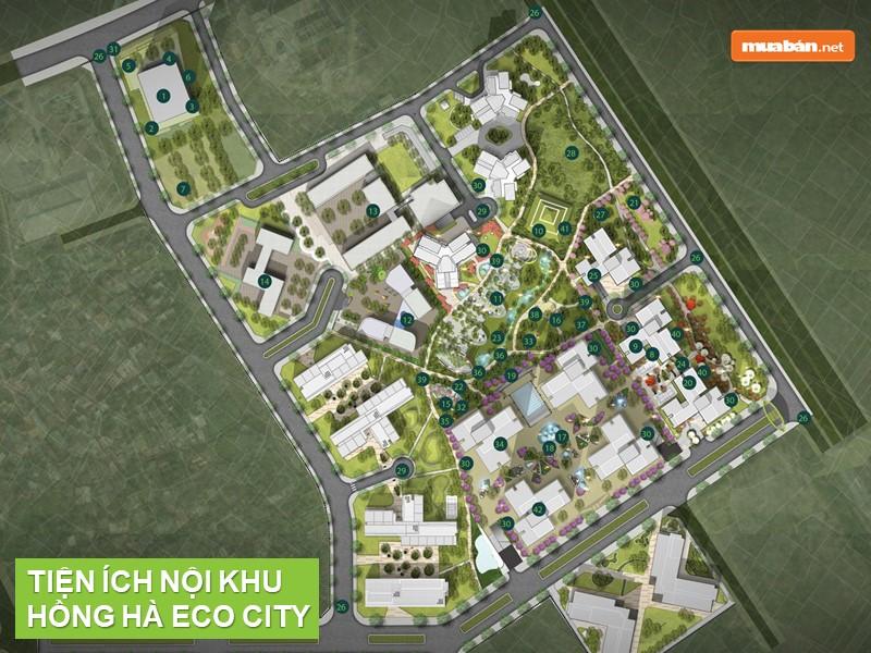 Bản đồ tiện ích nội khu của khu đô thị mới Tứ Hiệp