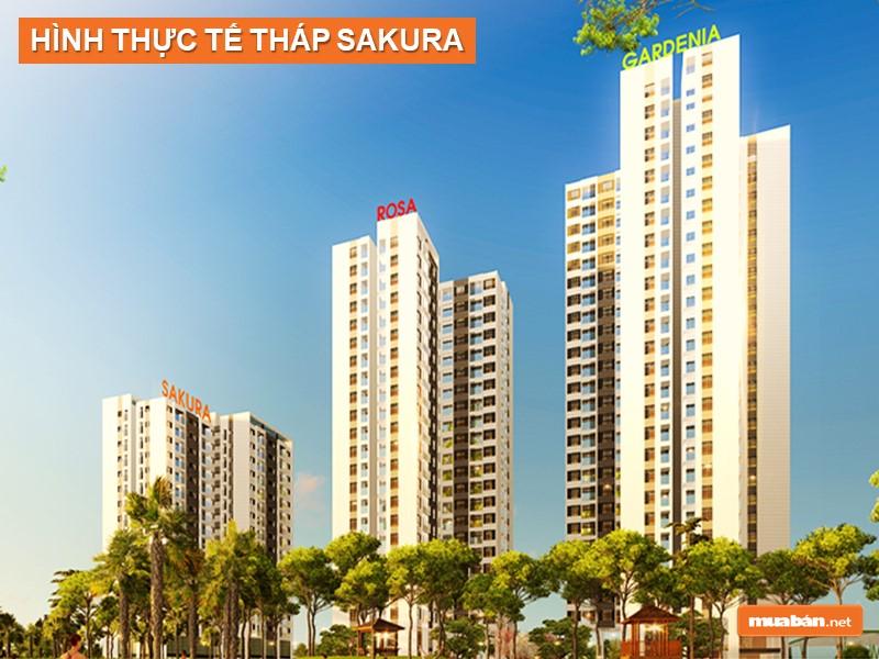 Hình thực tế tháp Gardenia - Hồng Hà Eco City