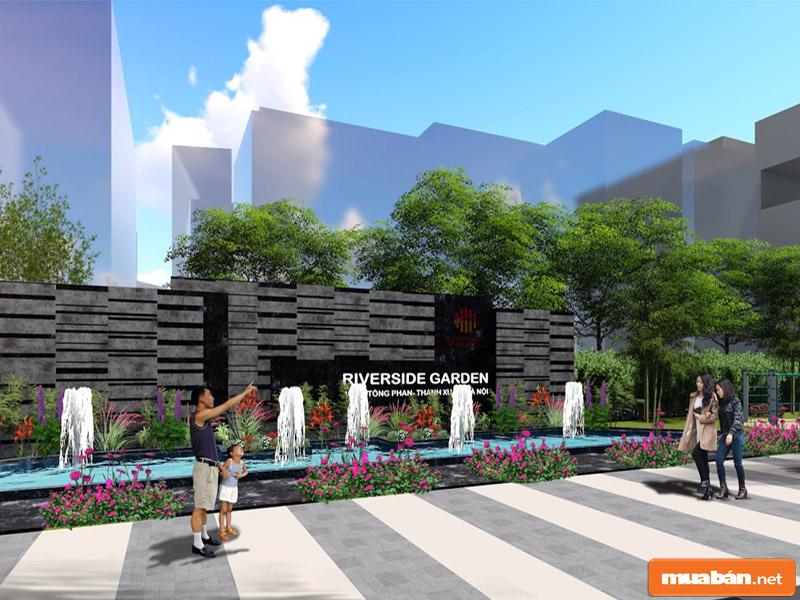 Biệt thự - nhà phố thương mại Riverside Garden nằm trong quần thể xanh mát, hấp dẫn