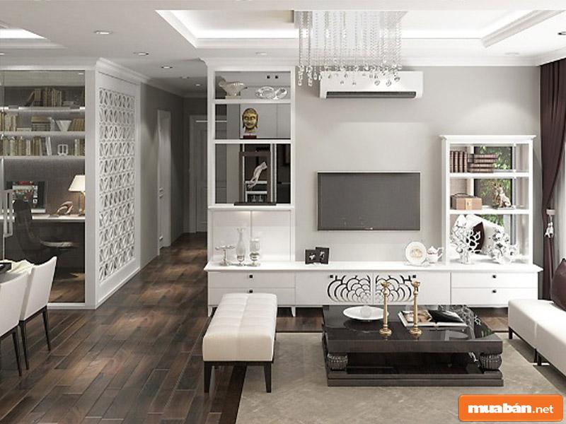 Căn hộ được thiết kế theo không gian mở đảm bảo diện tích tối đa