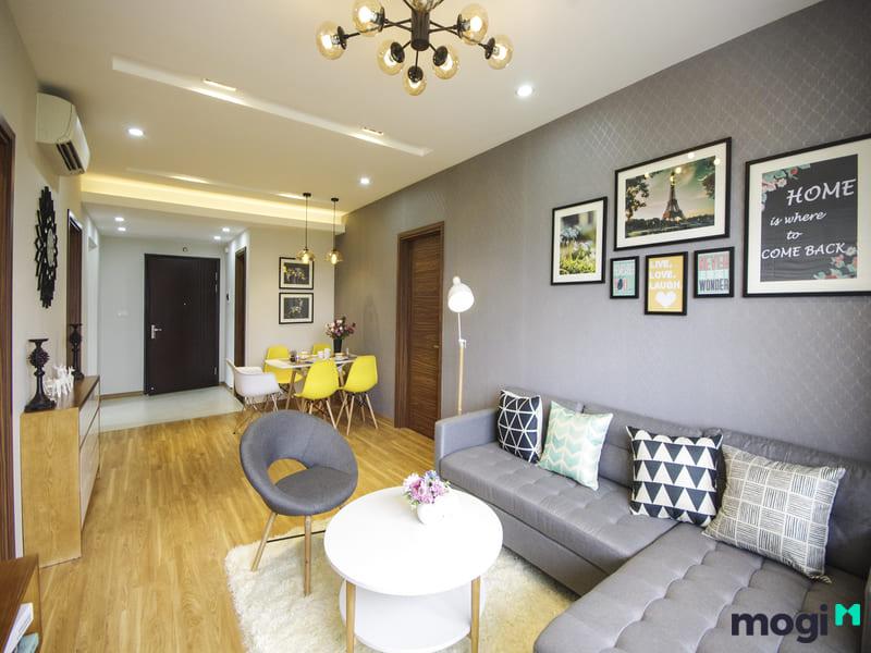 Bên trong căn hộ Sunshine Riverside sử dụng nhiều nội thất hiện đại
