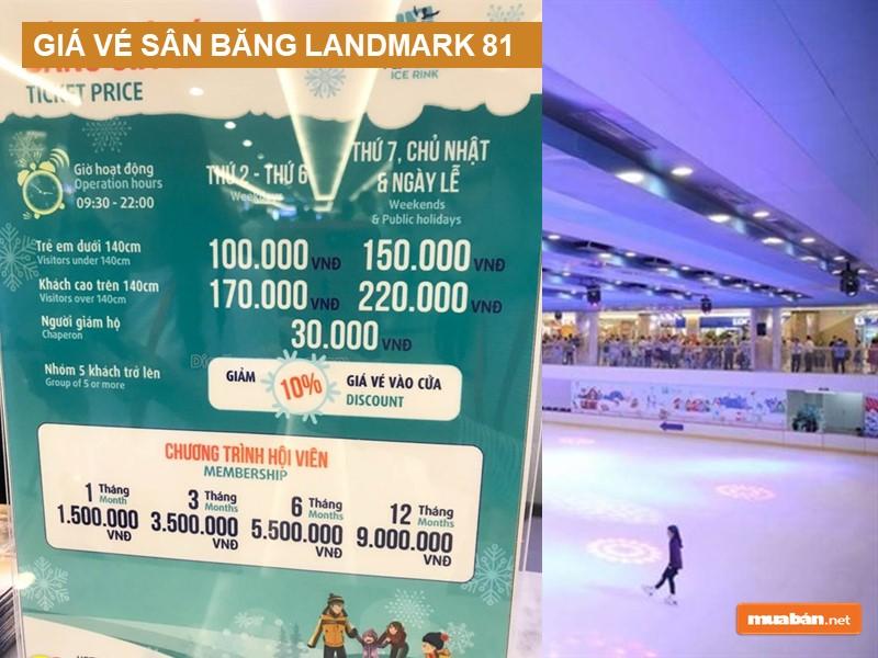 Giá vé sân băng Landmark 81 - Vincom Ice Rink