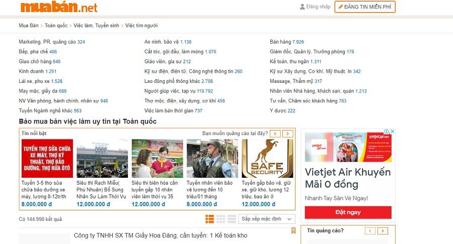 Trang Muaban.net Là Một Trong Những Website Tìm Kiếm Việc Làm Thêm Khá Hiệu Quả.